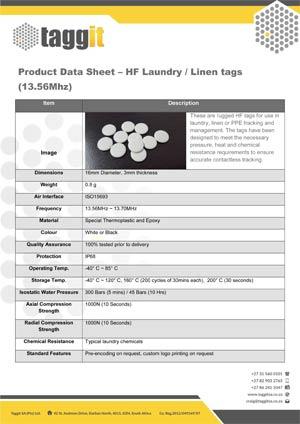 HF Laundry Linen Tags