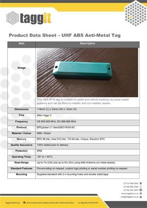 UHF ABS Anti-Metal RFID Tag