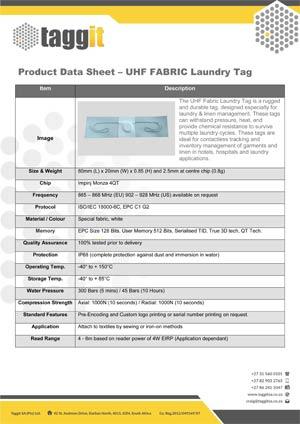 UHF Fabric Tag