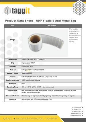 UHF Flexible Anti-Metal RFID Tag