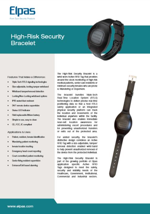 Elpas High Risk Security Bracelet