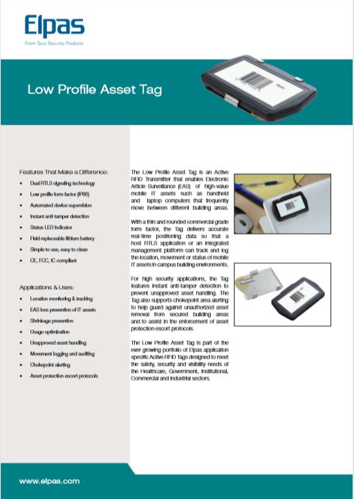 Elpas Low Profile Asset Tag
